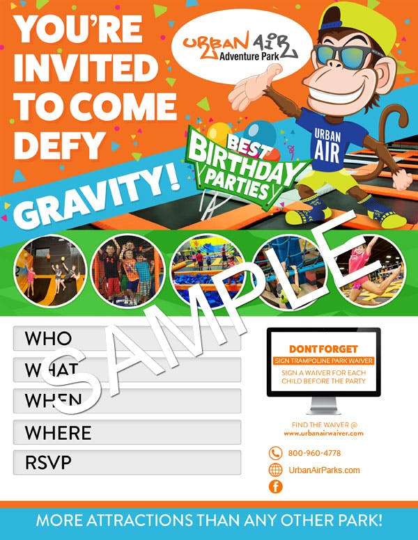Kids Birthday Party Invitation Sample