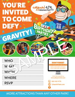 Download Birthday Party Invitations Urban Air Trampoline And