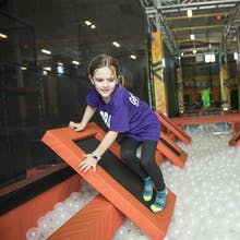 Girl on warrior obstacle course