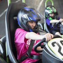 Kids Enjoying Go-Karts