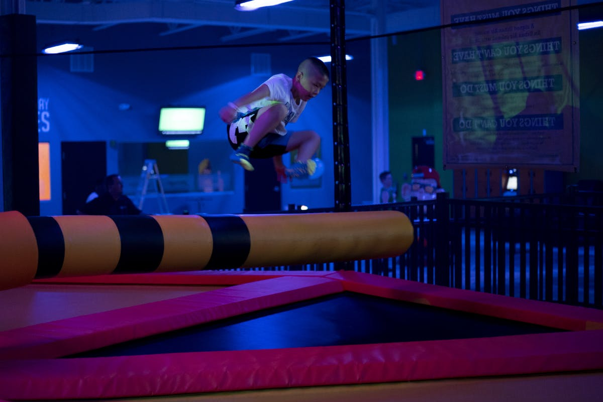 Kid Friendly Family Fun Urban Air Trampoline And Adventure Park Indoor Trampoline Park Wipeout Urban Air Indoor Trampoline Park
