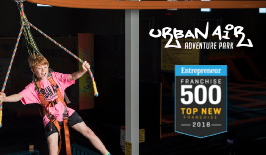 Urban Air Adventure Parks Recognized in Entrepreneur Magazine Top New Franchise List