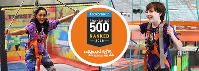 Urban Air Awarded as Top 100 Franchise in the World in 2019 by Entrepreneur Magazine