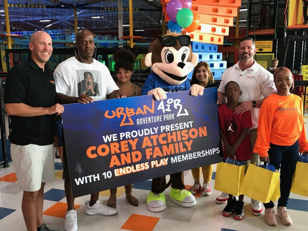 Urban Air Gives Exonerated Man Free Memberships for Family 2
