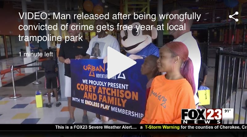 Urban Air Gives Exonerated Man Free Memberships for Family